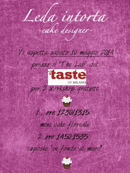 Taste of Milano, cake design, corsi gratuiti cake design, Leda intorta, pasta di zucchero