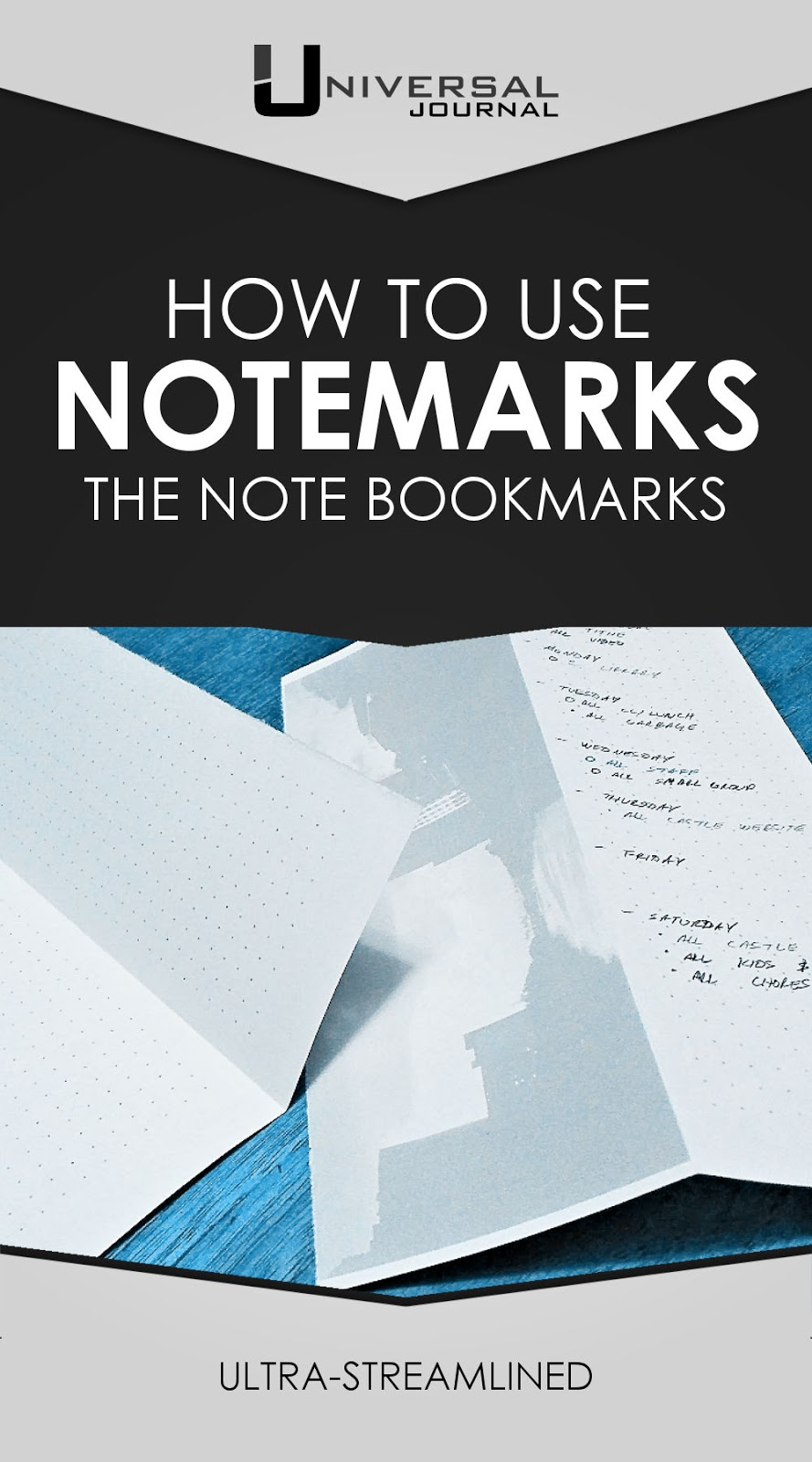 how to use notemarks the note bookmarks