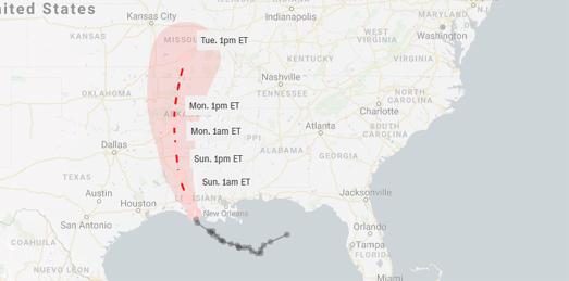 Maps Mania Tracking Tropical Storm Barry