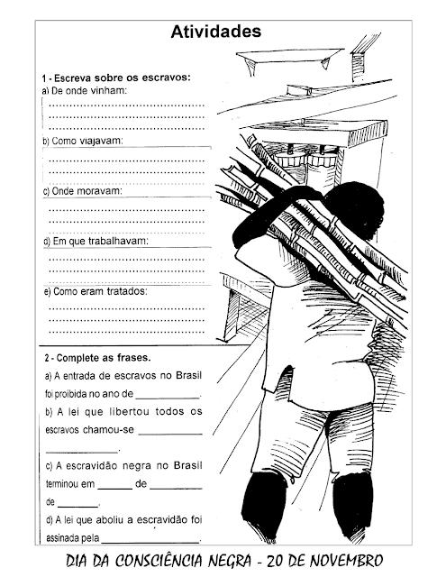 Atividades Consciência Negra ensino fundamental imprimir