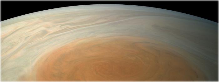Grande Mancha Vermelha de Júpiter em cores reais