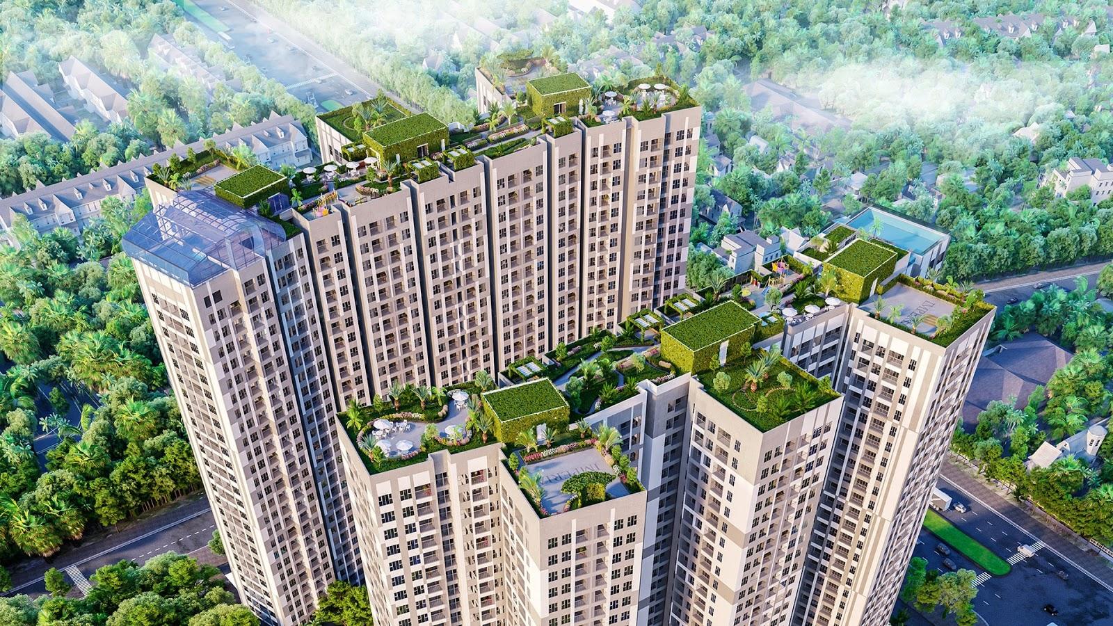 Ảnh đẹp về dự án chung cư Imperia Sky Garden từ trên cao