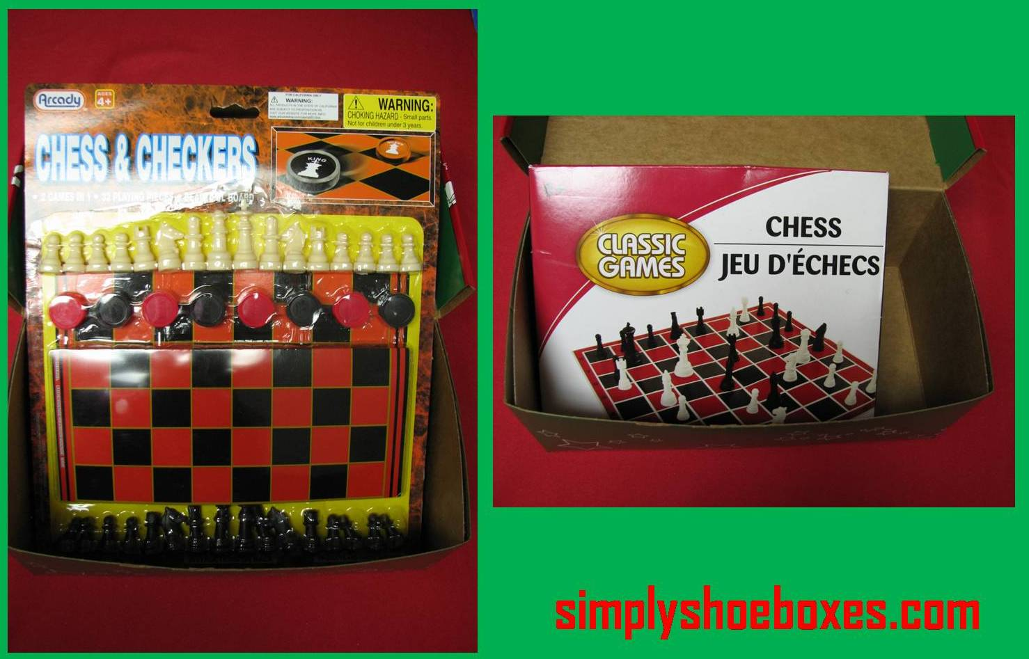 Christmas Operation Game.Simply Shoeboxes Fitting A Chess Or Game In An Operation