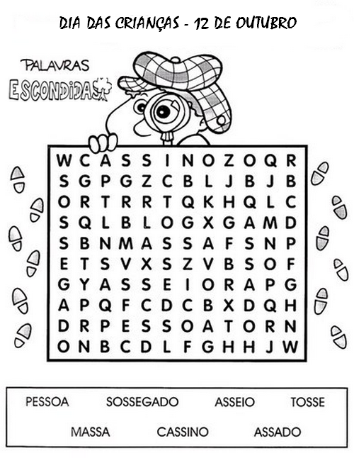 Atividades Educativas Dia das Crianças 1º Ano