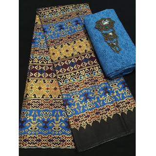 Kain Batik Primis dan Embos 271 biru