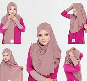 tutorial hijab simple kekinian menutup dada