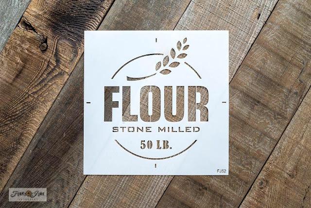 old sign stencil flour stencil