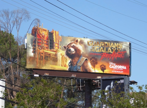 Guardians of the Galaxy Mission Breakout billboard