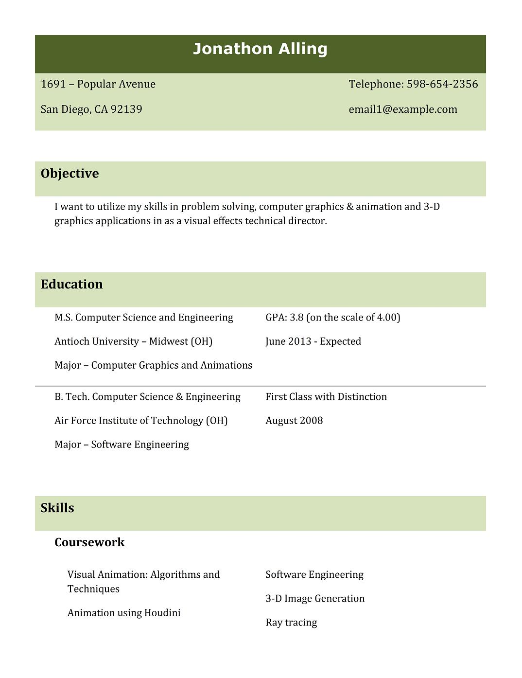 Be Mechanical Fresher Resume Format Pdf Best Resumes For