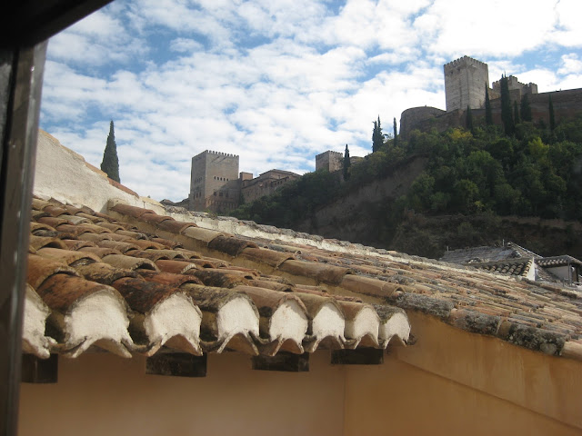 Granada - Moorish house with view of Alhambra