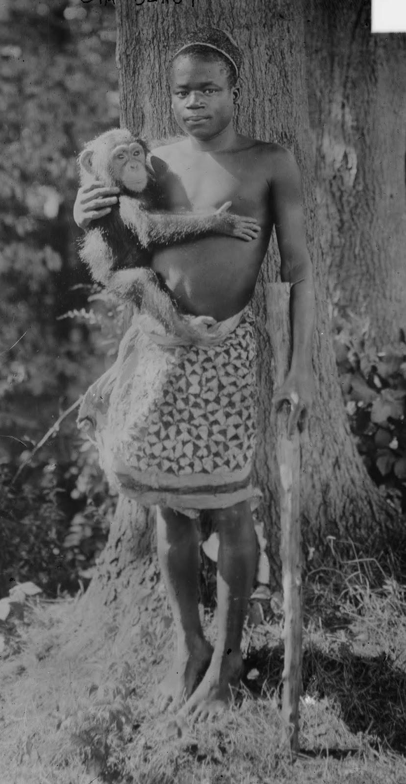 Ota Benga, a Congolese man, in New York's Bronx Zoo in 1906.