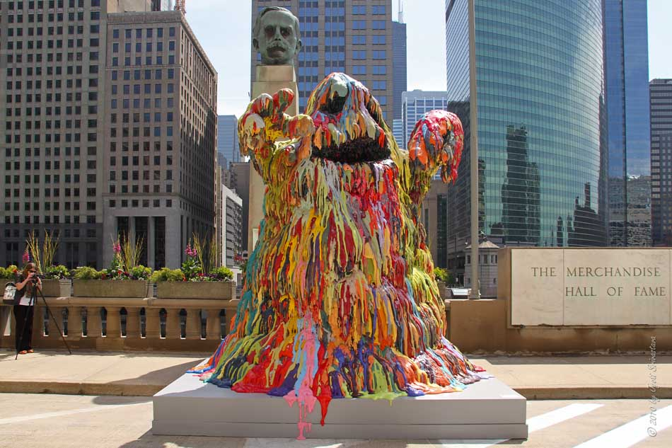 Blob Monster By Tony Tet And Buildings Gestures Susan Giles Are Part Of The Next Exhibit So If We Take Exhibits Only Art Chicago