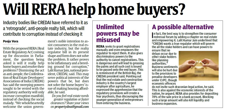 Will Rera Help Home Buyers Dna Property Nov 24 2012 Pg 04 Jpg Real Estate Alerts