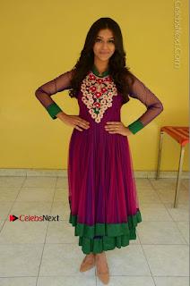 Actress Pooja Jhaveri Latest Stills in Purple Salwar Kameezt at Dwaraka Success Meet  0240.JPG