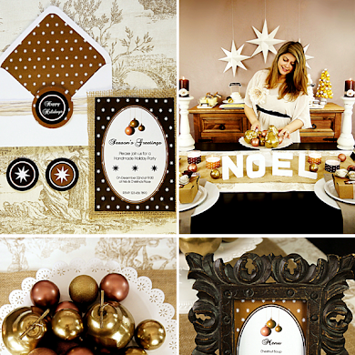 Handmade Holiday Party for HGTV with Free Printables