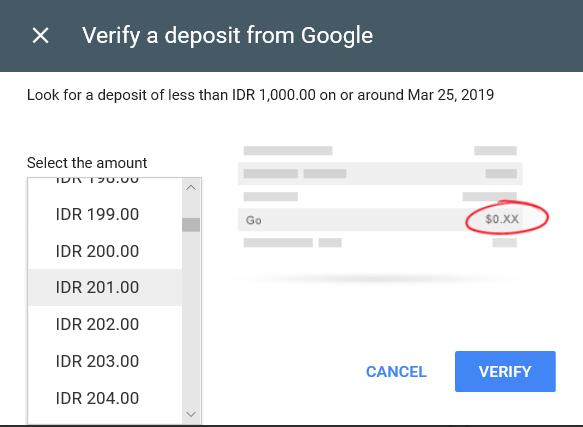 Verifikasi google adsense ke OVO aplikasi