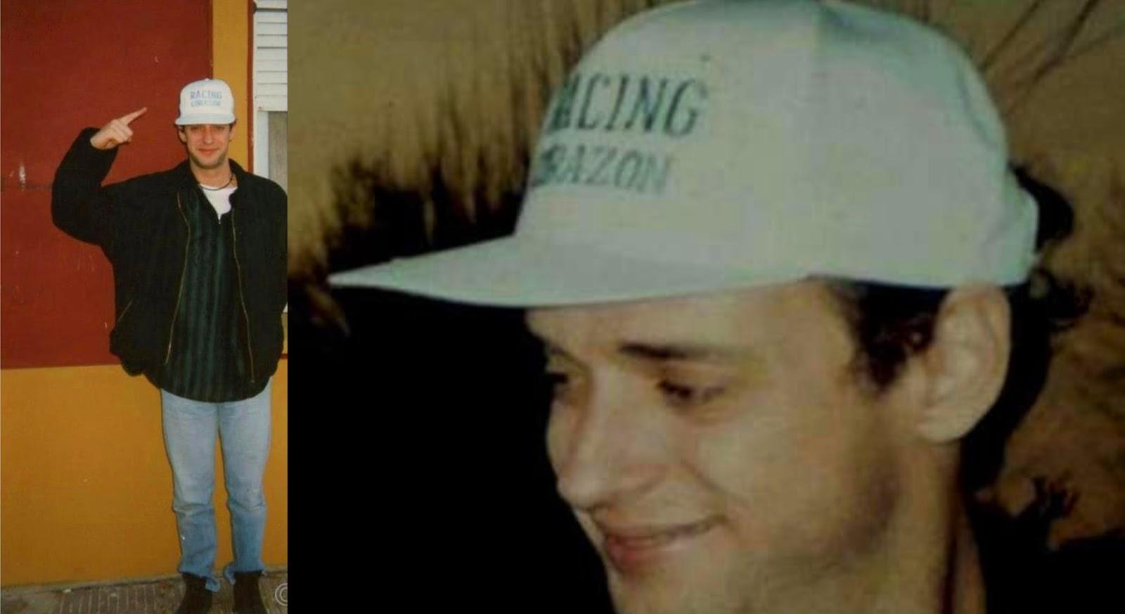 Fiel a su estilo Cerati utilizando una gorra del equipo de sus amores  Racing  Club de Avellaneda 7eeda0f3690