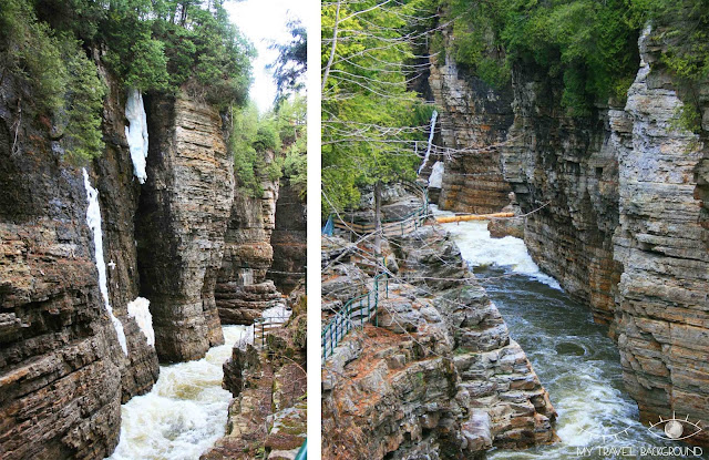 My Travel Background : 4 jours au Canada, Ausable Chasm (USA)