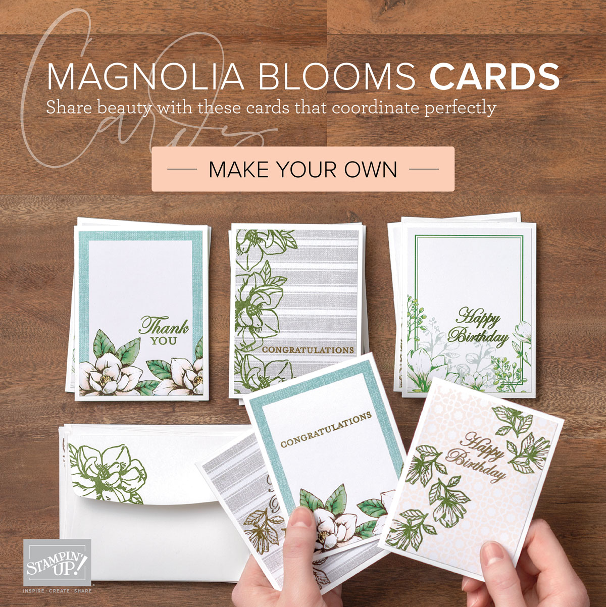 MAGNOLIA BLOOMS CARDS BUNDLE