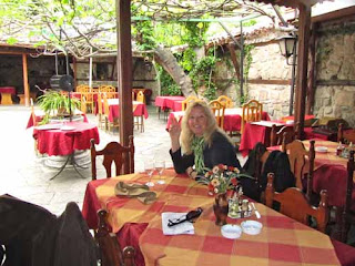 Pat dunlap Courtyard Alafrangue Restaurant Old Plovdiv