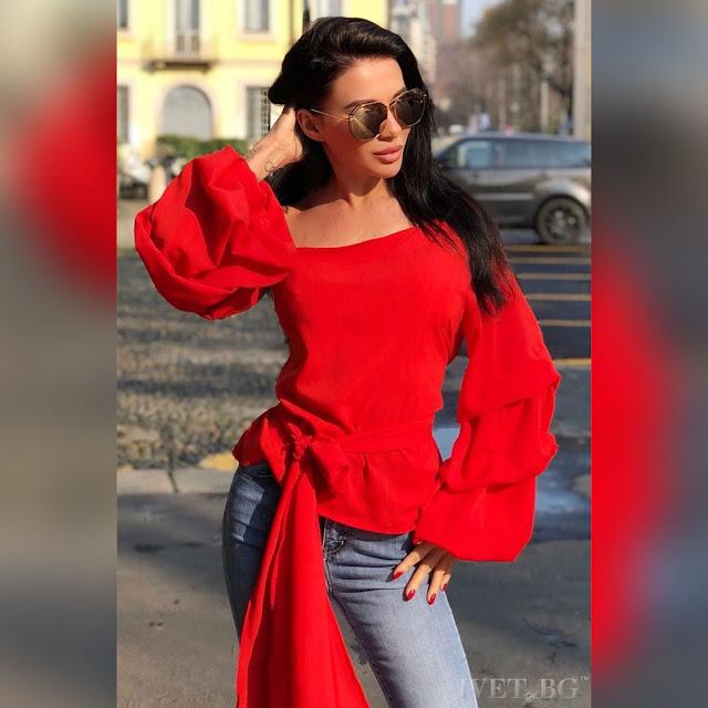 Γυναικεία κόκκινη μπλούζα ALEGRA