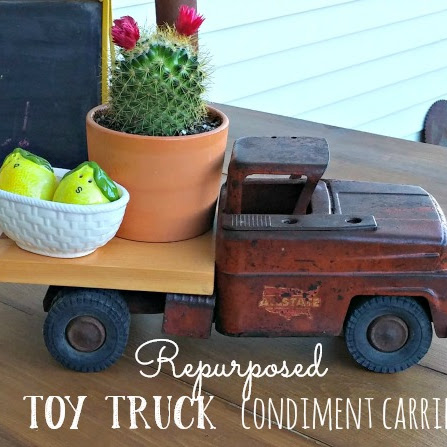 Repurposed Toy Truck Condiment Carrier