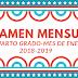 """Examen mes de Enero para 4° Cuarto Grado """"segundo trimestre """" 2018-2019"""
