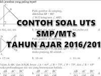 Contoh Soal UTS SMP/MTs Lengkap Tahun Ajar 2016/2017