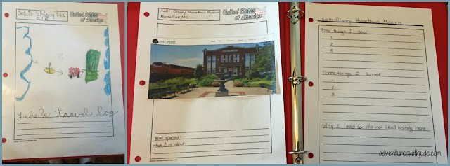 DIY travel journal using notebooking pages templates