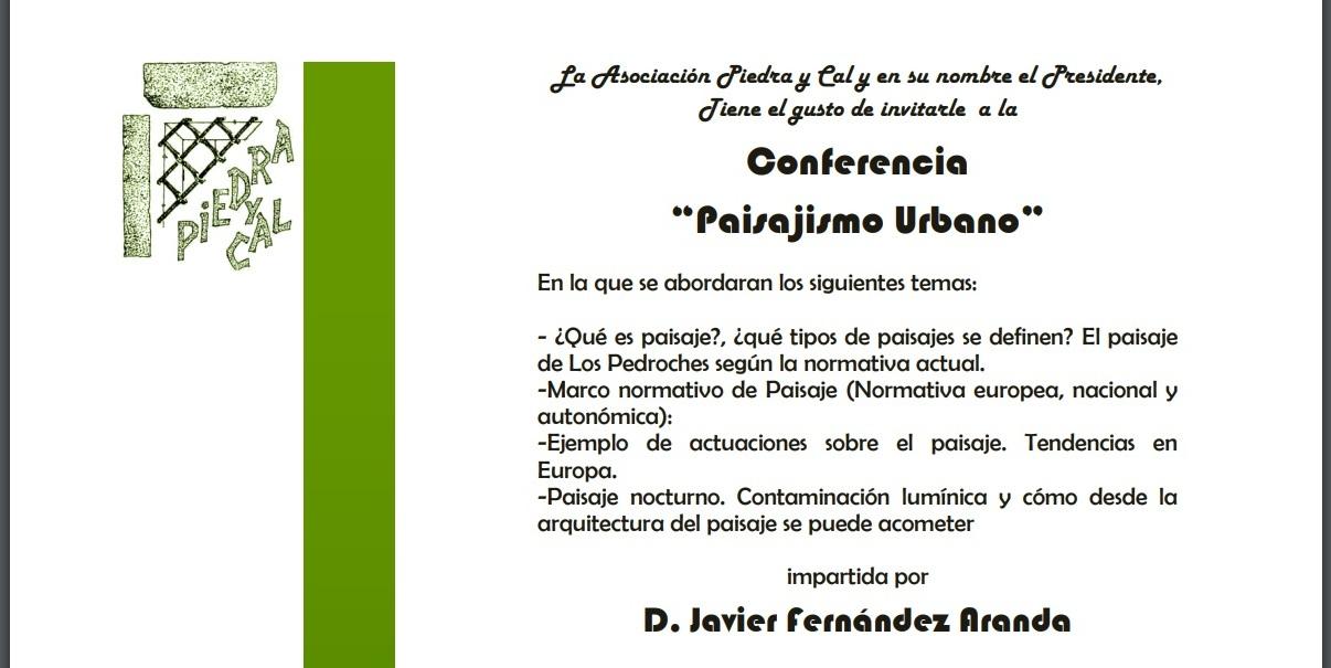 Pozoblanco Piedra y Cal: Paisajismo Urbano. D. Javier Fernández ...