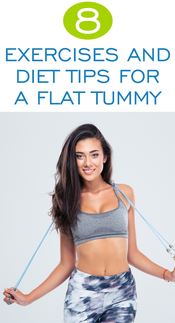 8 Ultimate Exercises And Diet Tips To Get A Flat Tummy