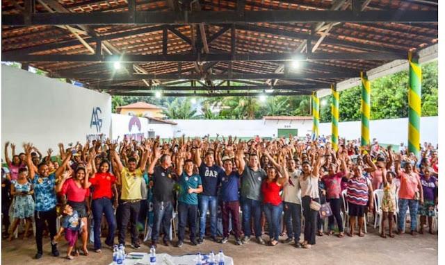 Prefeito Jadilson reune grande multidão em Mirinzal para apoiar Aluísio Mendes