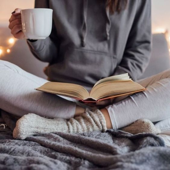How to get better quality sleep: 5 things you need to start doing girl read book tea