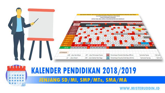 Download Kalender Pendidikan Jawa Timur 2018/2019