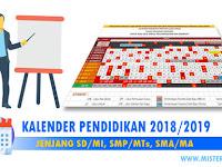 Download Kalender Pendidikan 2018-2019 SD/MI, SMP/Mts, SMA/MA/SMK