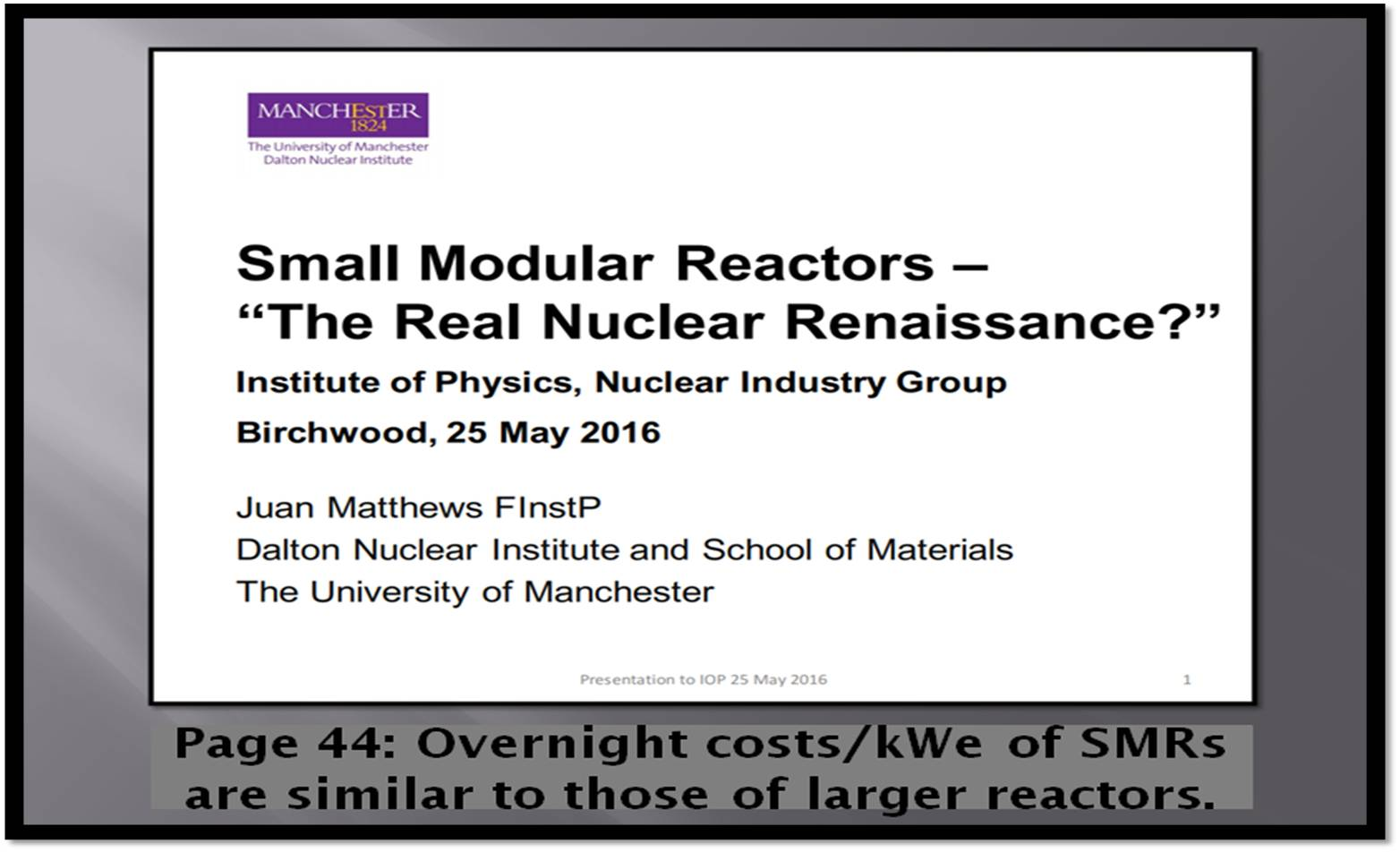 Modular Construction Costs construction cost of a single 220 mw small modular reactor is just