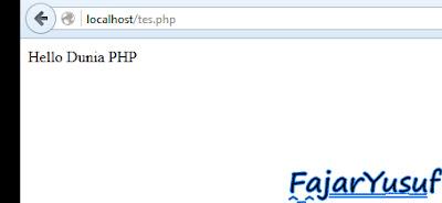 Cara Penulisan : Bahasa PHP
