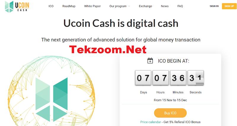 [SCAM] Dự án ICO Lending Ucoin Cash (UCH)-Mở bán ICO ngày 15/11/17