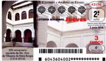 loteria nacional jueves 2 junio 2016