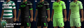 PES 2013 Kits Sporting CP 2016-17 By Darts