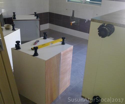 Susun Atur Sioca Kos Buat Kabinet Dapur Rekabentuk Sendiri
