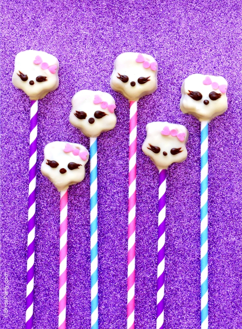 DIY Monster High Inspired Cake Pops Recipe - BirdsParty.com