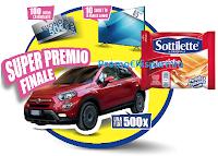 Logo Sottilette concorso ''Facciamolo esagerato'': vinci buoni carburante, TV Samsung e Fiat500 Urban