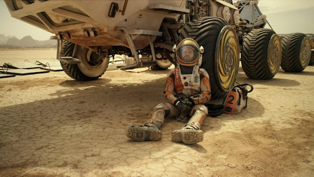 Matt Damon and rover image from The Martian movie