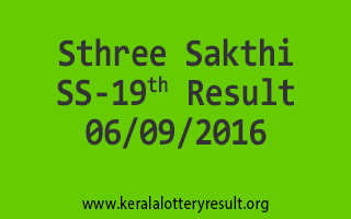 Sthree Sakthi SS 19 Lottery Results 6-9-2016