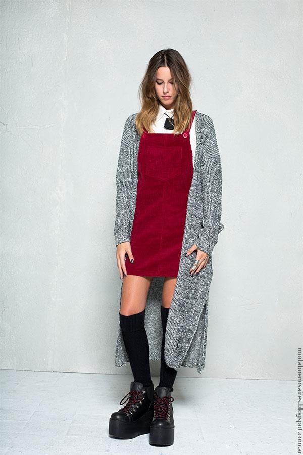 Moda invierno 2016 vestidos ropa de moda 47 Street.