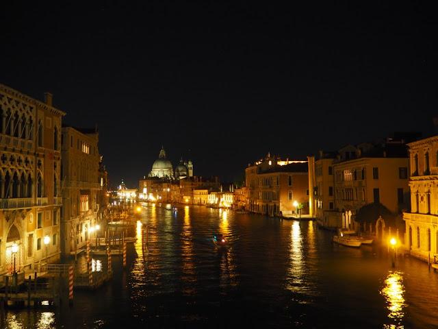 Canal Grande, Benátky v noci - Venezia at night