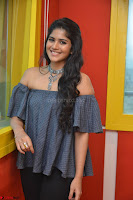Mega Akash in a sleeveless Off Shoulder Cute Dress Stunnign beauty at Radio Mirchi Promoting Movie LIE ~ Celebrities Galleries 056.JPG