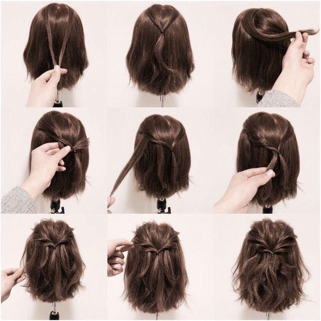 Cara Mengikat Rambut Pendek Simple Mudah Dan Terbaru Beserta - Gaya rambut pendek kepang