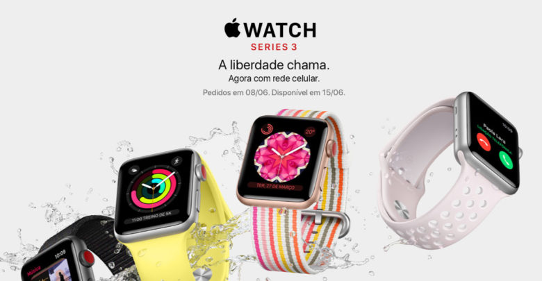 Apple Watch Series 3 com rede celular